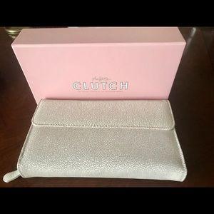 8ab70d04bd94d Handbags - BNIB Maskcara Beauty Italian Leather Clutch.